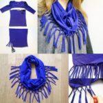Cómo hacer una bufanda con una remera con pocos cortes