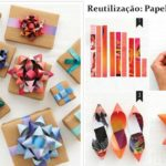 Moños con papeles de revistas para adornar los regalos