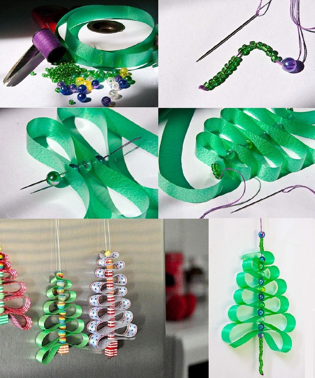 Para estas fiestas arbolitos navide os para colgar como - Cintas navidad para arbol ...