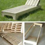 Chaise longue de palets: ideal para el jardín en época de verano