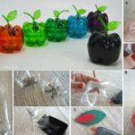 Color a tu cocina…Coloridas manzanas para la frutera con materiales reciclados