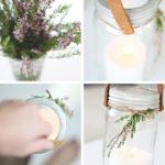 Candelabros reciclados con frascos de vidrio: ideal para centro de mesa