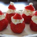 Papa Noel comestible para decorar la mesa en navidad y año nuevo