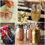 ¡Estilo navideño! Floreros dorados realizados con material reciclable