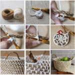 Canasta al crochet para decorar la cocina con frutas ¿Cómo hacerla?