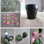 Originales macetas con flores de rosas para centros de mesa