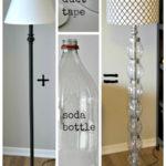 ¡Re-decorando y Re-ciclando! Lampara de pie para la sala con botellas recicladas
