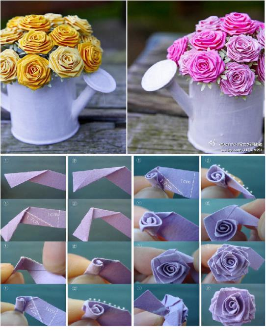Flores para centros de mesa con cinta bies como hacer todo - Como se hacen adornos navidenos ...