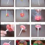Souvenir chupetín con flores de gomitas para cumpleaños infantiles: Idea sabrosa y divertida