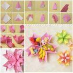 Cuenco con forma de flor realizado con la técnica origami ¿Cómo hacerlo?