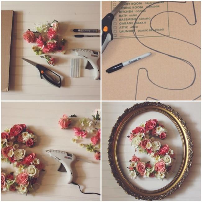 primavera en tus paredes originales cuadros realizados con inicial y flores como hacer todo