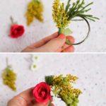 Paso a paso para realizar servilletero para una boda con flores naturales