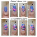 ¡Color para el verano! Paso a paso para embellecer uñas con rombos en diferentes tonos