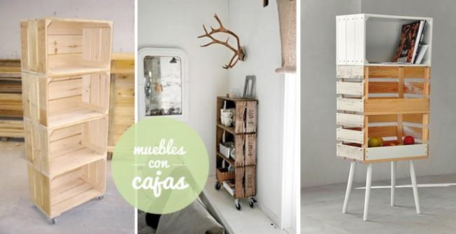 Reciclando y creando muebles con cajones de madera de for Ideas para amueblar tu casa
