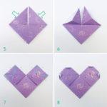 Simples pasos para hacer corazones con la técnica origami