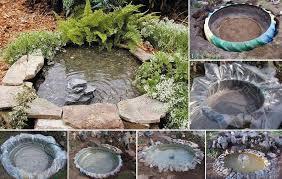 estanque para el jardn realizado con goma de camin ideal para el verano