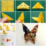 Coloridas mariposas realizadas con la técnica origami: ¿Cómo hacerlas?