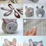 Para los más pequeños: Conejo de pompón para regalar en las Pascuas