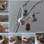 ¿Cómo hacer pequeños gorritos de lana como adorno del hogar?