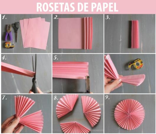 C mo hacer rosetas de papel de seda para un bautismo - Como decorar una servilleta de papel ...