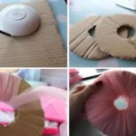 Pompones de tul para decorar un cuarto de adolescente