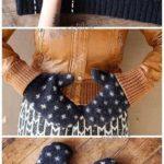 ¡Abriga tus manos! Manoplas realizadas con un sweaters en desuso