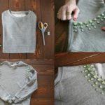 ¡Reciclando en simples pasos! Remera manga larga reciclada con gemas en color verde