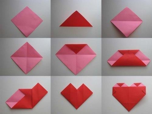 Con mucho amor coraz n de origami paso a paso como hacer todo - Como hacer un estor enrollable paso a paso ...