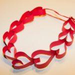 Guirnalda con corazones para colgar y decorar