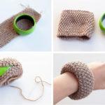 Paso a paso para renovar una pulsera con lana
