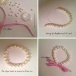 Bonita y delicada pulsera realizada con perlas ¿Cómo hacerla?
