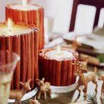 Pensando en navidad…Rústicos adornos navideños para decorar la mesa