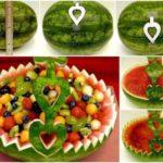 ¿Cómo decorar una mesa con una frutera a base de sandia?