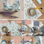 ¿Cómo decorar letras utilizando papel de regalo con flores?