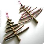 ¡Llega navidad! Árbol como adorno navideño realizado con ramas de arboles
