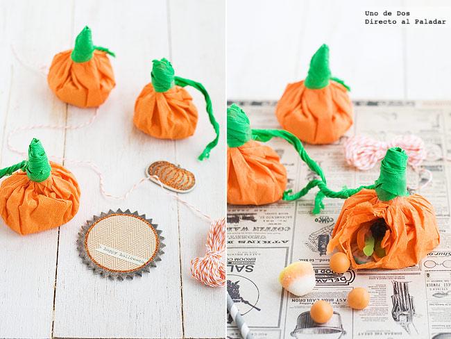 C mo hacer calabazas de papel para decorar en halloween - Como hacer calabaza halloween ...