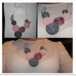 ¿Cómo hacer flores con cinta zig zag para realizar un collar?