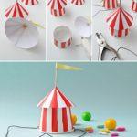Gorro con forma de circo para entregar como souvenir en un cumpleaños infantil