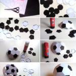 ¿Buscas regalo para papá? Hacele esta pelota de fútbol de papel para el Día del Padre!