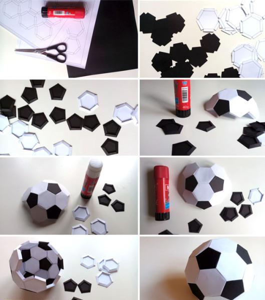 una manualidad ideal para agregarle como adorno al regalo que pienses hacerle es una idea genial para esos papas fanticos del futbol