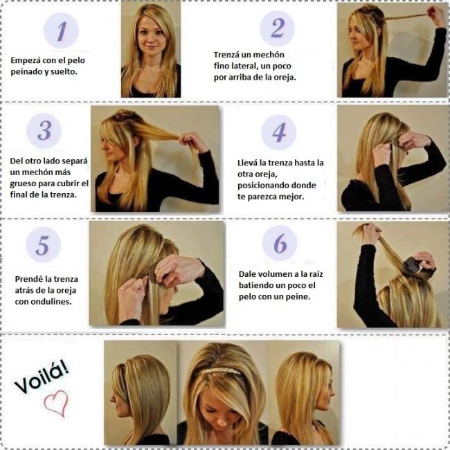 La ltima tendencia en peinados trenza diadema en simples - Peinados paso a paso trenzas ...
