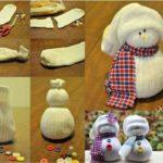 Simpático muñeco de nieve para decorar: paso a paso