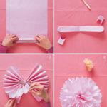 Técnica super rapida y fácil para hacer pompones de papel de seda divinos y decorativos