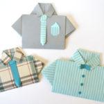 Novedosas tarjetas con forma de camisa para regalar a papá en su día