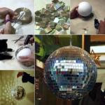 Fiesta en tu departamento: Paso a paso para hacer una bola de discoteca con CDs viejos