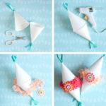 Cómo hacer pequeñas maracas realizadas con bonetes blancos