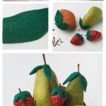 ¡Verano frutal! Originales frutas realizadas con piedras para la cocina