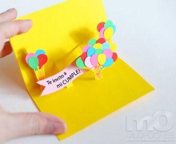 Paso a paso para hacer tarjetas de invitaci n de for Hacer tarjeta cumpleanos