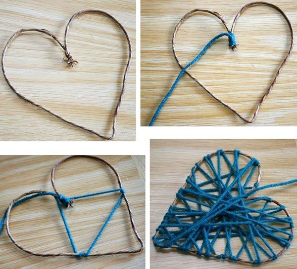 Coloridos corazones de lana para ambientar nuestro hogar como hacer todo - Manualidades para hacer en san valentin ...