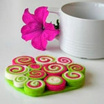 Posavasos de fieltro para alegrar y dar color a tus tarde de té